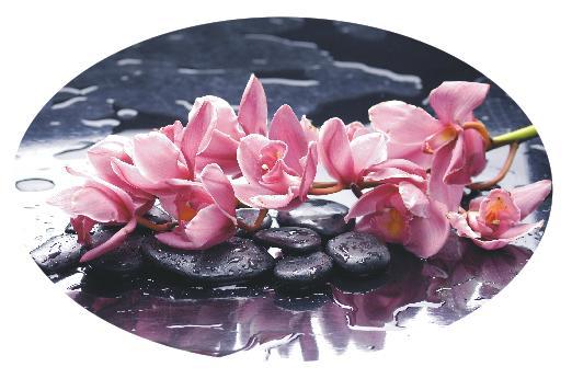 Овальный стол цветы на воде