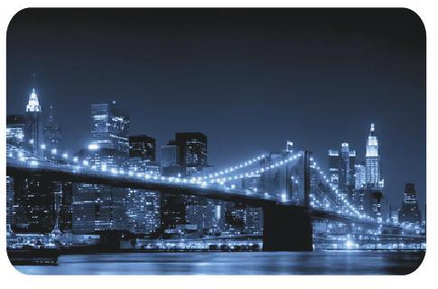 Стеклянный прямоугольный стол ночной мост