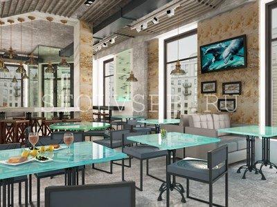 Стеклянные столы для кафе