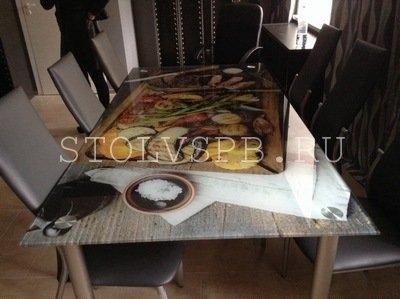Стеклянный стол ЕДА