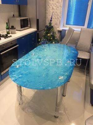 Стеклянный стол ПУЗЫРИ