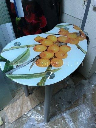 стеклянный стол облепиха