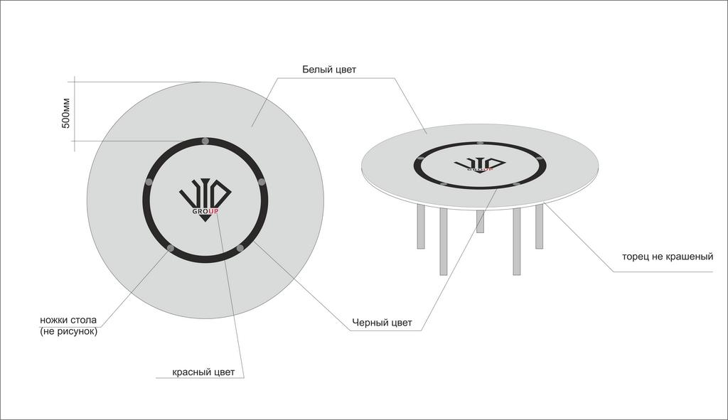 Макет стола для переговоров